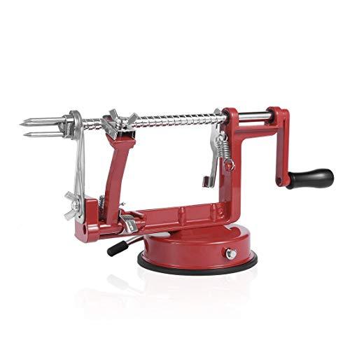 Garciadia 3 in 1 für Apfelschäler-Fruchtschäler-Schneidemaschine/Edelstahl für Apfelfruchtmaschine schälte Werkzeug kreative Hauptküche ab