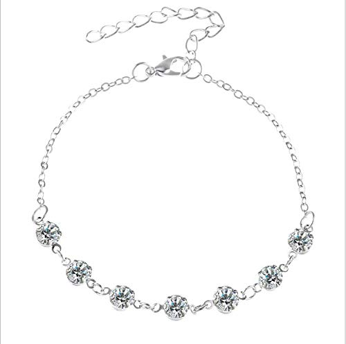 xuenisidan Beach Ankle Chain Foot Chain Accessory with Crystal Fußkette for Women and Girls