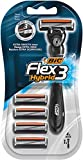 BIC Flex 3 Hybrid Men's Razors 1 Handle + 4 Refills Pack