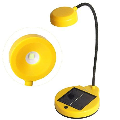 Sidiou Group USB luce della lampada di energia solare flessibile Desktop lettura regalo Lampade ricaricabili banca di potere o di casa Creative Lighting Lampada (arancia)