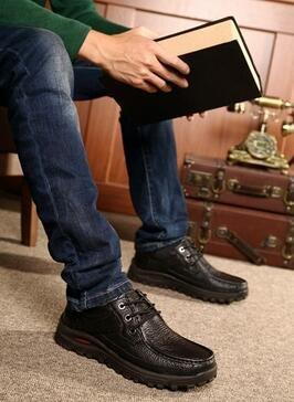 2016 Herbst und Winter Sportschuhe der Männer tragen im Freienschuhe Bergschuhe der beiläufigen Männer Schuhe Schwarz plus Baumwolle