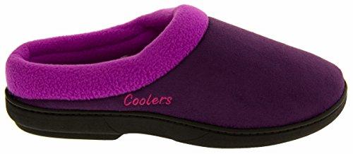 Coolers Premier Semelle Coussinée Pantoufles Muletiers Femmes purple