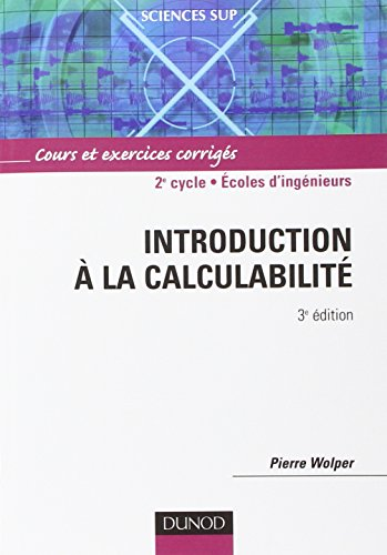 Introduction à la calculabilité - 3ème édition