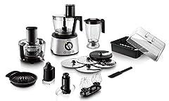 Idea Regalo - Philips Cucina HR7778/00 Robot da Cucina 5 in 1, Multifunzione con centrifuga, frullatore, spremiagrumi, impastatore, Avance Collection, 1300 W, Argento