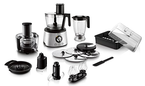 Philips Avance Collection HR7778 - Robot de cocina (Acero inoxidable, 25,4 cm, 28,9 cm, 43,6...