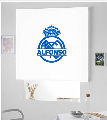 ARONE TEXTIL Regalos Originales- Estor Enrollable Real Madrid/PERSIANA Estor con Escudo Futbol Real Madrid (Azul Royal, 150X180)