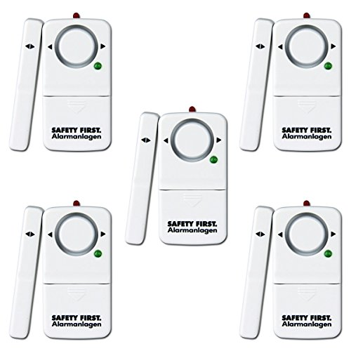 fenster tueralarm kh security Fensteralarm, 5er Set, weiß, 100158set5