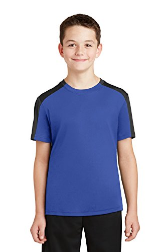 Sport-Tek® Youth PosiCharge® Competitor™ Sleeve-Blocked Tee. YST354 True Royal/ (Youth Sleeve Tee)
