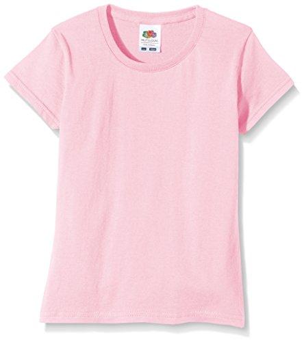 Fruit of the Loom Mädchen SS125B T-Shirt, (Light Pink), 5-6 Jahre
