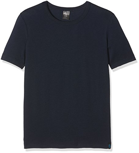 Schiesser Jungen 95/5 Shirt 1/2 Unterhemd, Blau (Nachtblau 804), 176 (Herstellergröße: L)