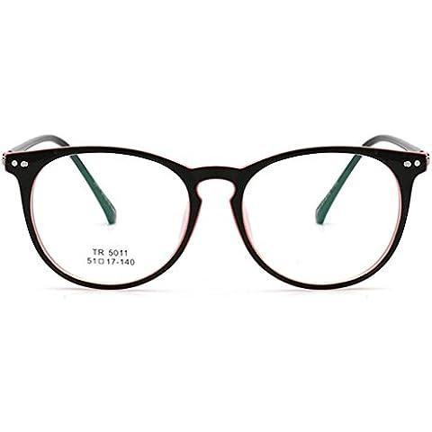 Vollter Hombres Mujeres TR90 vidrios ópticos de las lentes del marco de la vendimia completa Gafas