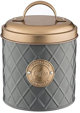 Typhoon Living Lid Coffee Storage Tin, Grey/Copper