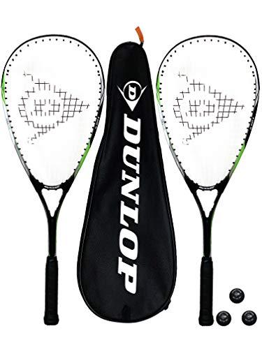 DUNLOP Biotec X-Lite Squashschläger x 2 + Schlägerhülle (2) + 3 Squash-Bälle (Verschiedene Optionen) (Ninja)