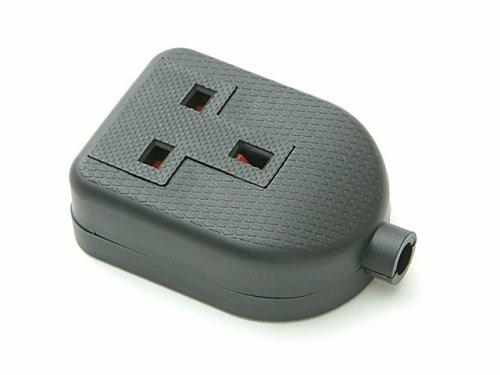 S.M.J. Black 13amp 1 Gang Rubber Ext Socket Test