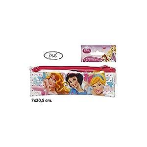 Disney–Trousse PVC,,–PRINCESS-, 7X 20,5CM.