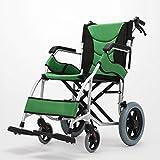 Multiuso de aviación ligera aleaciones de titanio, sillas de ruedas manual doblar el geriátrico portátil ultraligero de viaje