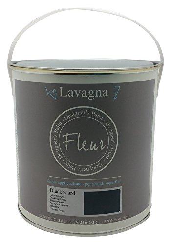 To-Do 13250 Colore Acrilico, Effetto Lavagna Fleur, 2.5 lt, Blackboard, Nero, 17x34x17.5 cm