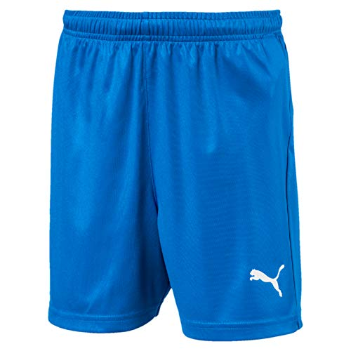 PUMA Kinder LIGA Core Shorts, Electric Blue Lemonade/White, 176