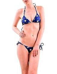 Wildfox Mujer Stars Away Gingham Reversible Bikini Top