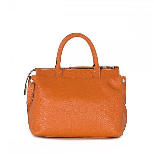Arcadia Emma italienne grab en cuir sac à bandoulière de sac à main Orange