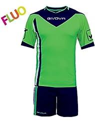 GIVOVA Kit concordo Fluo, Color Verde/Azul, talla M