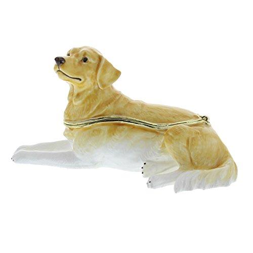 Golden Retriever Hund Treasured Trinket Box (Ornament House Dog)