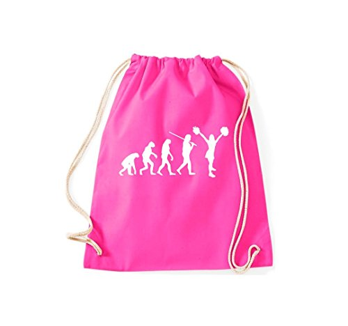 Kostüm Life For Bag - Turnbeutel Evolution Cheerleader Cheerleading Kostüm Fun Sport Tanz Gymsack Kultsack pink