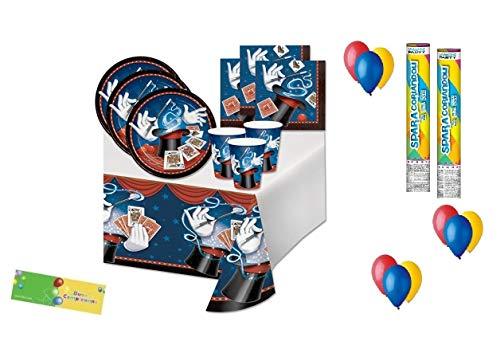 Creative converting kit 30 magic party maghetto prestigiatore