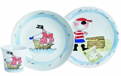 Kahla Schatzpirat Ensemble vaisselle 3 pièces pour enfant