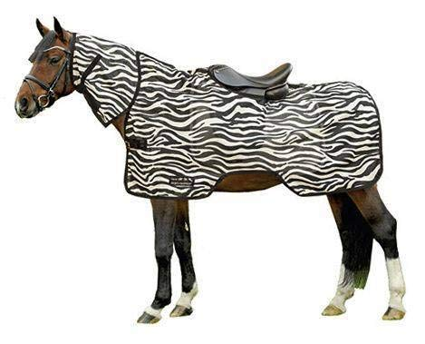 HKM 550888 Fliegenausreitdecke Zebra mit Halsteil, 95 cm