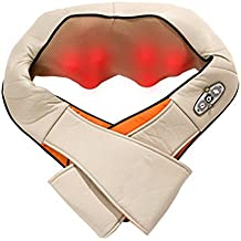 Massaggiatore,Stoga Massaggiatore Schiena Cuscino Cervicale Shiatsu Massager del corpo della vita Massaggiatore Wrap /Massaggiatore Shiatsu Cuscino calore terapia RC Per il rilassamento del muscolo dolore e di tenuta