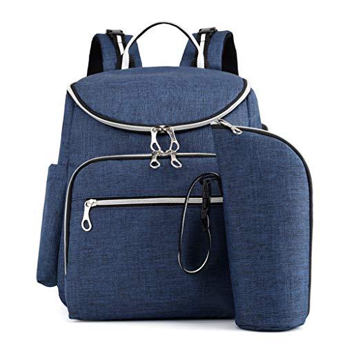 LABIUO Lässiger Multifunktionsrucksack Mode Große Kapazität Mamabeutel Für Babyreisen Shopping(Blau,Freie Größe)