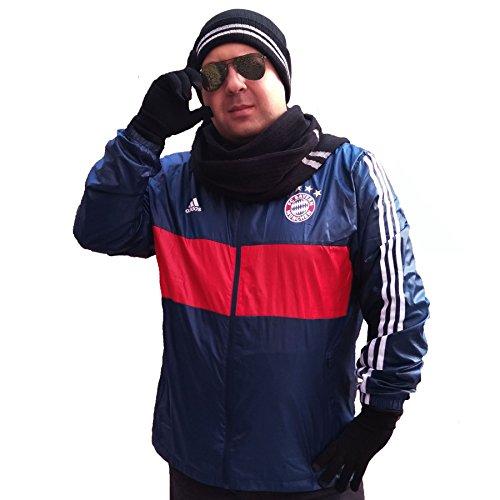 Streifen-schal Stricken (Stricken Mütze Schal Handschuhe Set-Frauen Männer Unisex Zopfmuster Winter kaltes Wetter Geschenkset (Schwarz Streife))