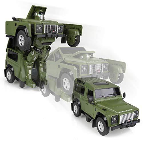 L R Land Rover Genuine Merchandise 1:14 Remote Control Defender Transformer (Green) 51LFTY420GNA (2019 collection)