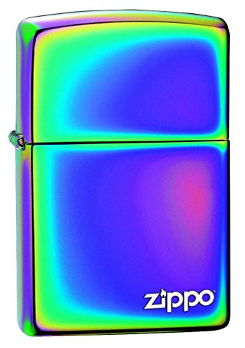 Zippo Feuerzeug-mit Logo, Messing, Spectrum, 3,5x1x5,5 cm