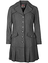 Lee Cooper – Abrigo de lana para mujer gris chaqueta abrigos y chaquetas de ropa, gris, UK 14 (Large)