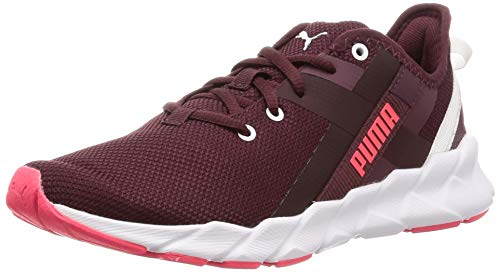 PUMJV|#Puma Weave Xt Wn's, Scarpe Sportive Indoor Donna, Vineyard Wine/Puma White 04, 4.5 EU