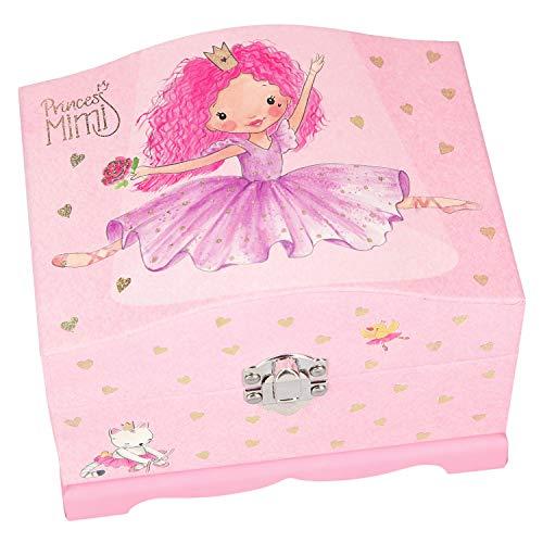 Depesche 10104 Schmuckschatulle Princess Mimi mit Licht, rosa, bunt