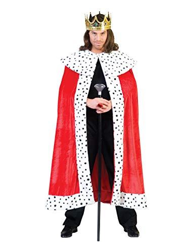 TrendClub100® Royal König Cape Umhang Kostüm für Erwachsene (E, ()