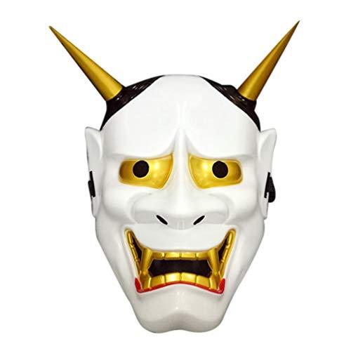 Oyamihin Classic Hero Ghost Masks Vollgesichtsmaske Halloween Masken Maskerade Party Kostüm Zubehör Gesicht Dekor - Weiß