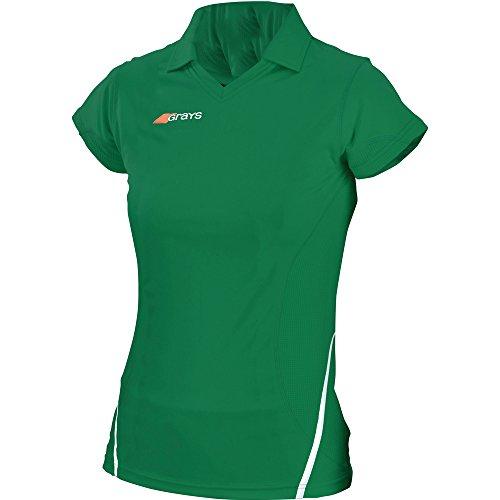 Grays Ladies G750 Collar V Hockey Shirt green