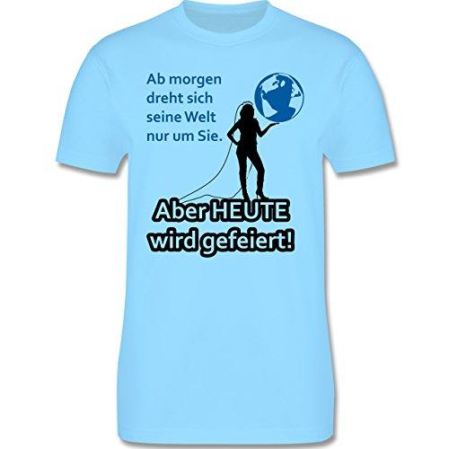 JGA Junggesellenabschied - Aber Heute wird gefeiert - Herren Premium T-Shirt Hellblau