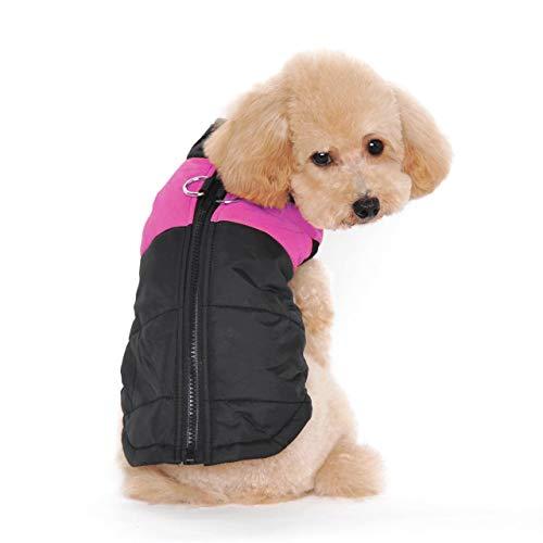 Ericoy Hundbekleidung Hunde Kleider Haustier Kostüm Bekleidung Small Medium Hundewinter gesteppte Weste Gurtzeug ()