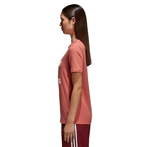 adidas Damen Sporthemd Trefoil Tee Rot