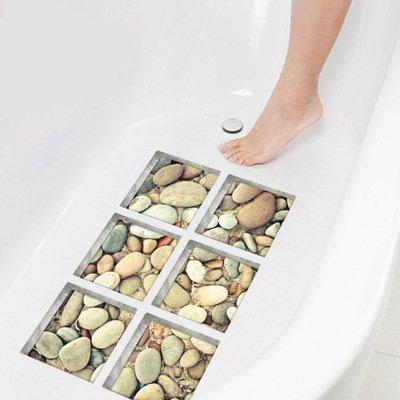 Watooma Mehrzweck-Badematte/PVC-Material für Baby-Wanne-Matte Nicht Beleg-Matten für Kinder u. Dusche Badezimmer-Sicherheit Muster vom Ozean Octopus Fish, 12 Pack (A)