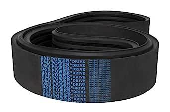 D/&D PowerDrive 270J3 Poly V Belt Rubber 3 Band