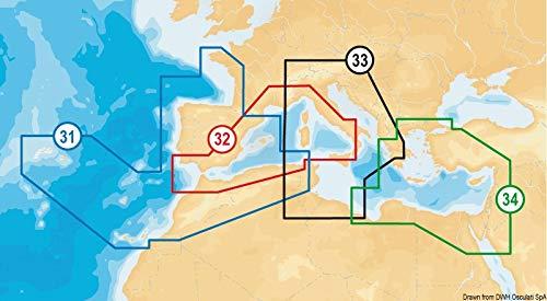 NAVIONICS PLATINUM + XL3microSD-Seekarte, Zone 33P + Mediterraneo Central