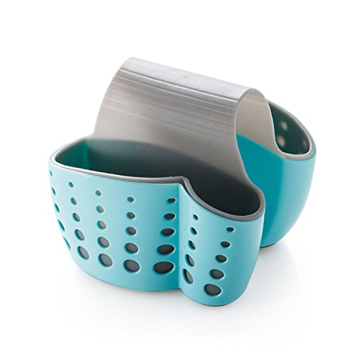 Generic Entwässerung Küche Sattel Waschbecken-Caddy Schwamm Halterung für Gasabscheider Schwämme Kunststoff blau Dish Caddy