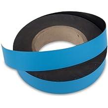 Magnetband,Kennzeichnungsband, Breite 15 mm, blau, Meterware