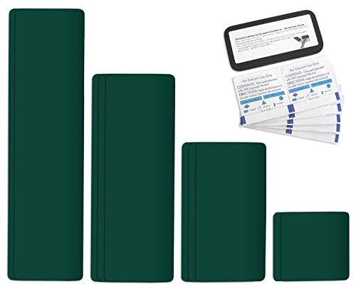 Selbstklebende Planenreparatur Tapes | 10 teilig | Easy Patch Comfort 100mm | Für Zelte, Planen uvm. | Moosgrün RAL 6005